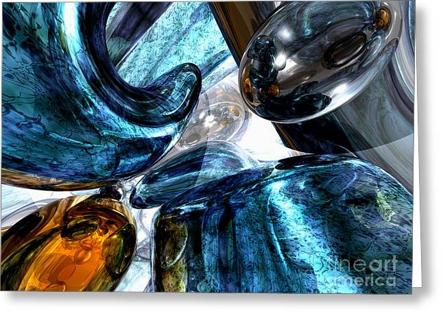 Various Reasons Abstract Greeting Card by Alexander Butler