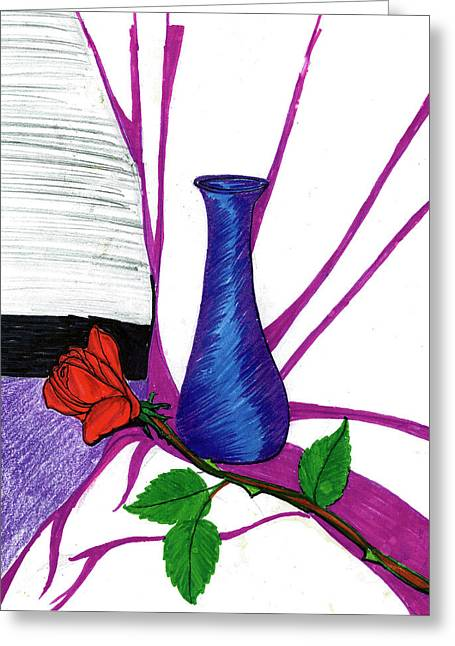 Vase Greeting Card by Harry Richards