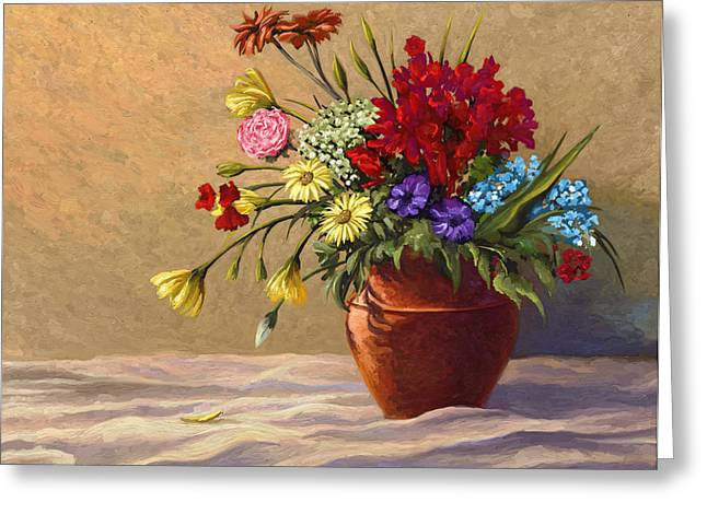 Vase Of Flowers Greeting Card