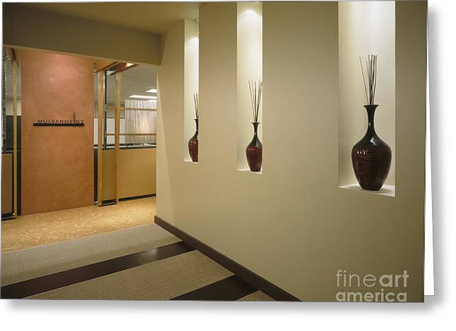Vases In Wall Alcoves Greeting Card by Robert Pisano