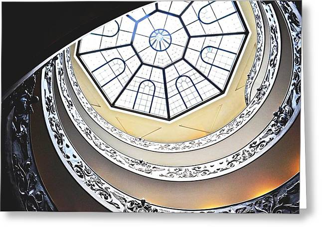 Vatican Staircase Greeting Card by Heather Marshall