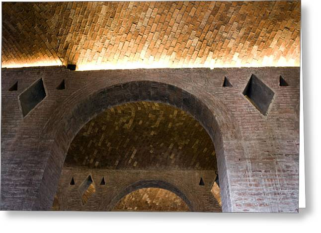 Vaulted Brick Arches Greeting Card by Lynn Palmer