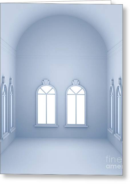 Vaulted Room  Greeting Card