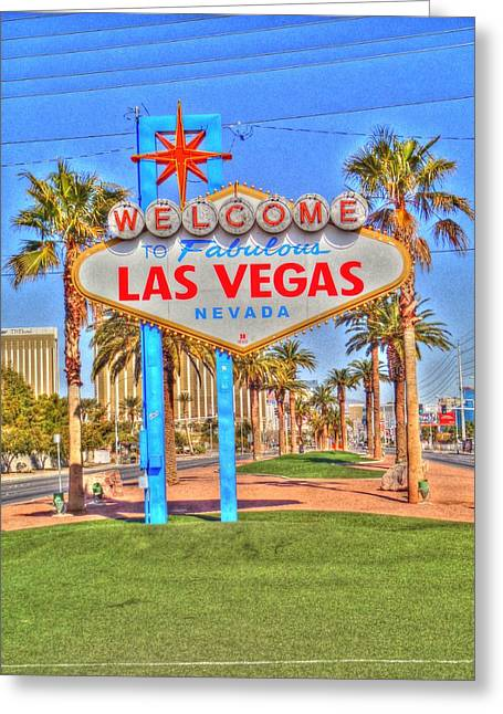 Vegas Greeting Card by Barry R Jones Jr