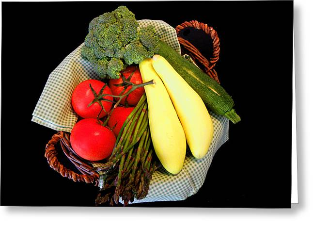 Vegetable Garden Greeting Card by Sandi OReilly