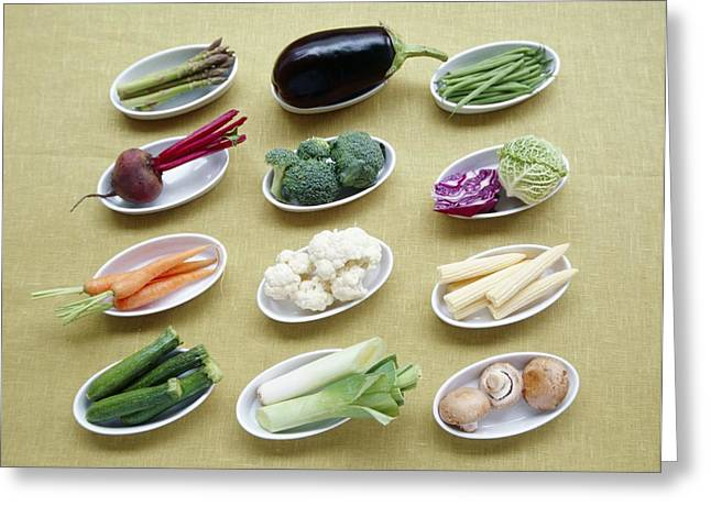 Vegetables Greeting Card by Veronique Leplat