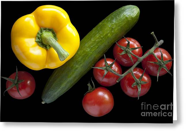 Veggie Composition Greeting Card