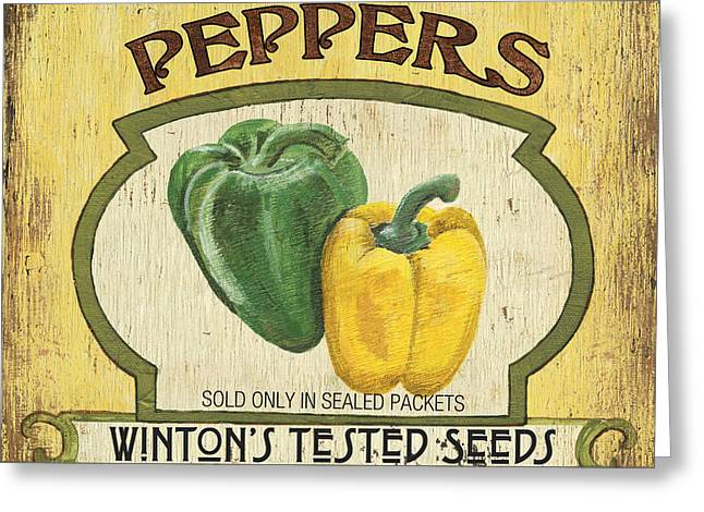 Yellow Pepper Greeting Cards - Veggie Seed Pack 2 Greeting Card by Debbie DeWitt