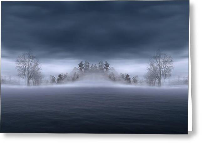Veil Of Mist Greeting Card by Lourry Legarde