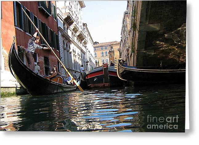 Venec Canal Greeting Card by Yury Bashkin