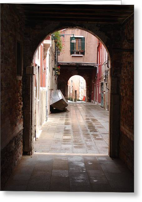 Venetian Alleyway Greeting Card