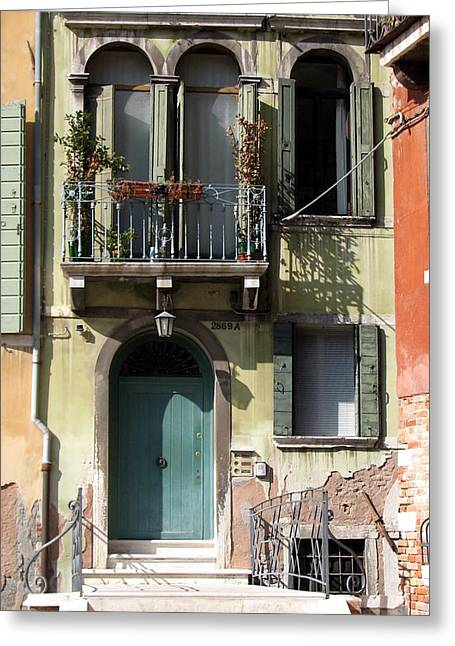 Greeting Card featuring the photograph Venetian Doorway by Carla Parris