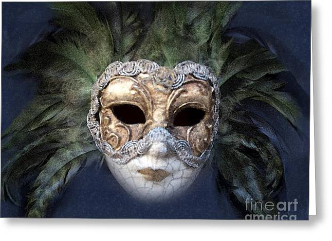 Venetian Face Mask Serie A Greeting Card by Heiko Koehrer-Wagner