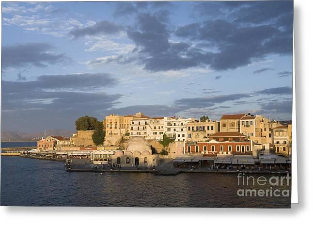 Venetian Harbor At Sunset Greeting Card
