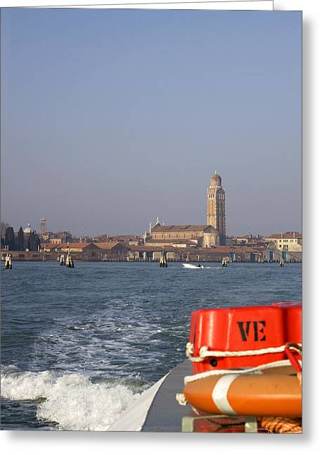 Greeting Card featuring the photograph Venezia. From The Ferry To Murano. by Raffaella Lunelli