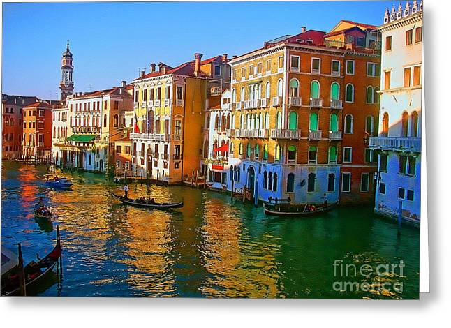 Venice - Central Canal Greeting Card