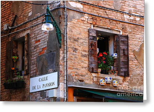 Calle De La Passion Greeting Card by Bob Christopher