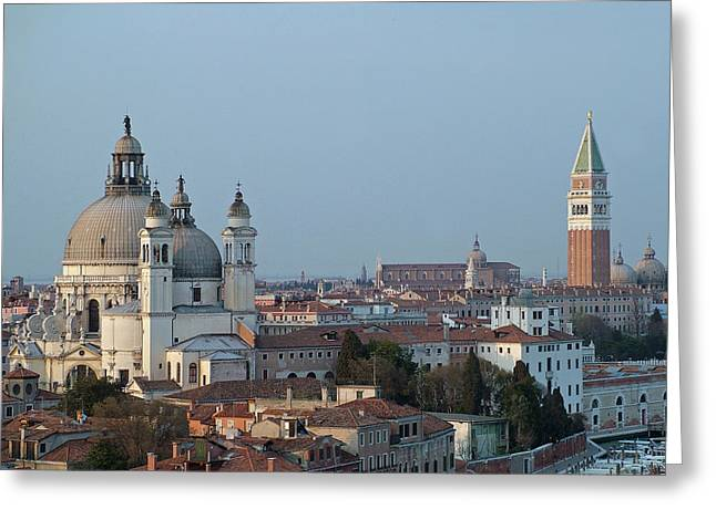 Greeting Card featuring the photograph Venice At Dusk by Joseph Hendrix