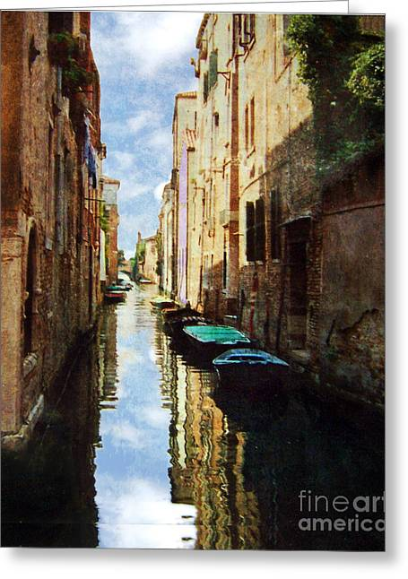 Greeting Card featuring the photograph Venice Canal by Deborah Smith
