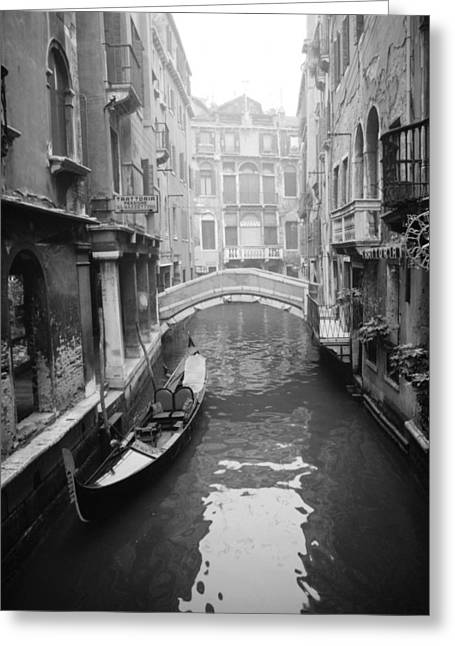 Venice Canal Greeting Card by Emanuel Tanjala