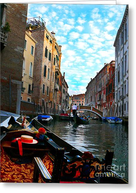 Greeting Card featuring the photograph Venice Canal by Jeanne  Woods