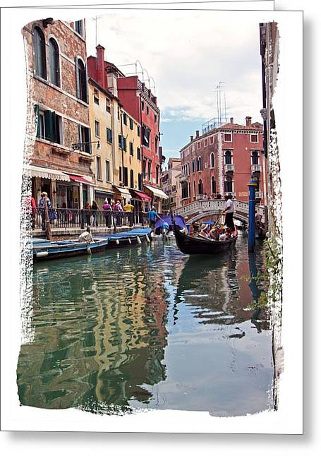 Venice Canal Greeting Card by Judy Deist
