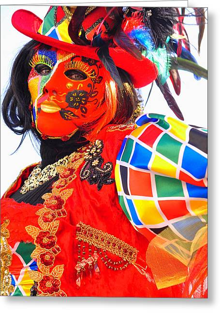 Venice Carnival Greeting Card by Graham Hawcroft pixsellpix