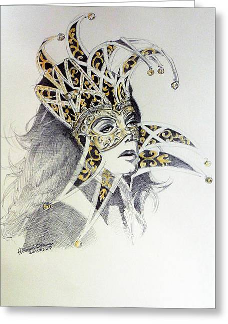 Venice Carnival Mask Greeting Card