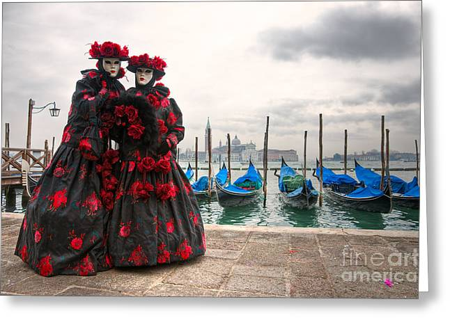 Greeting Card featuring the photograph Venice Carnival Mask by Luciano Mortula