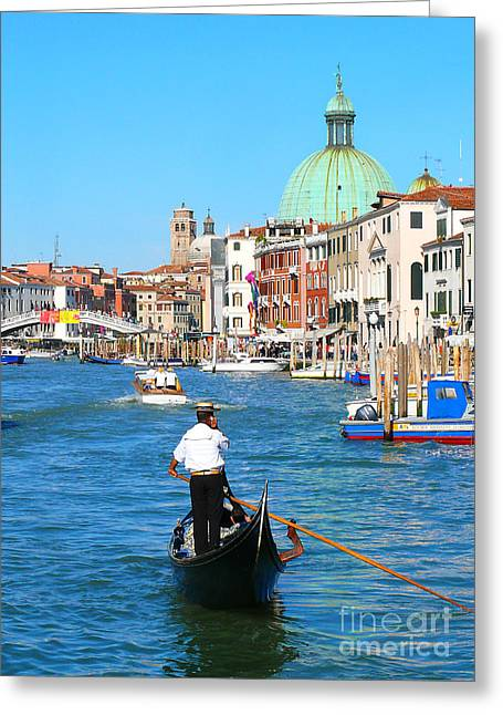 Greeting Card featuring the photograph Venice Cell Phone by Jeanne  Woods