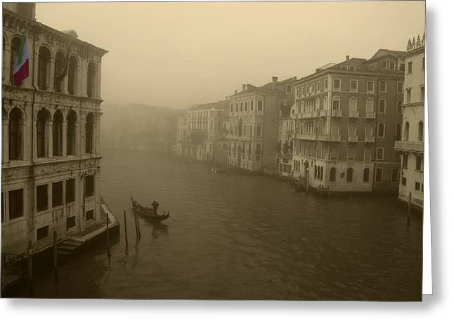 Greeting Card featuring the photograph Venice by David Gleeson