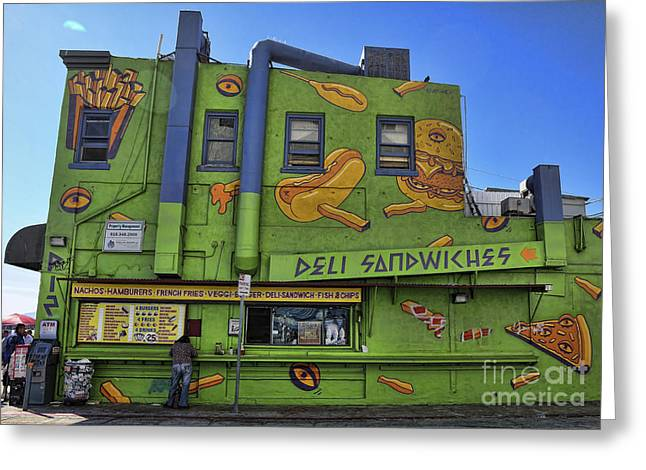 Venice Deli Greeting Card by Chuck Kuhn