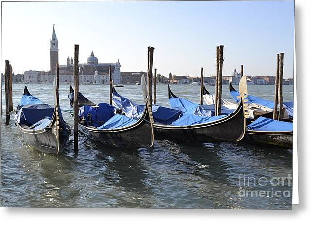 Greeting Card featuring the photograph Venice Gondolas by Rebecca Margraf