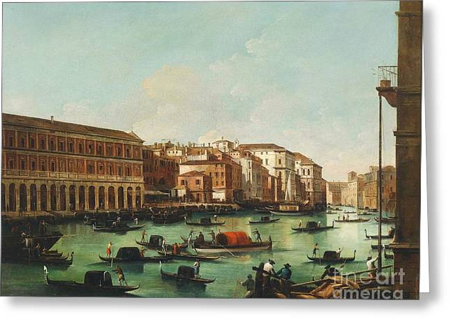Venice Grand Canal Greeting Card by Pg Reproductions