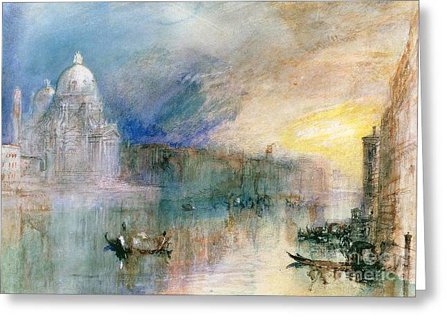 Venice Grand Canal With Santa Maria Della Salute Greeting Card