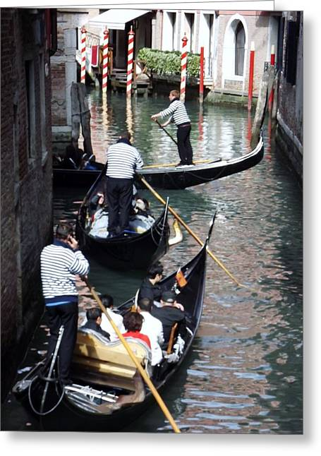 Venice Gridlock Greeting Card by Tony Ruggiero