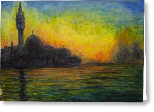 Venice Illuminated Greeting Card