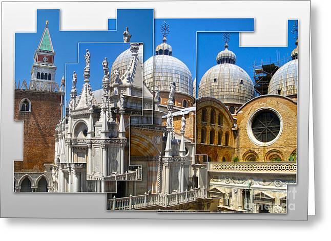 Venice Italy - Cathedral Basilica Of Saint Mark Greeting Card by Gregory Dyer