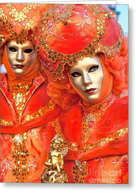 Greeting Card featuring the photograph Venice Masks by Luciano Mortula