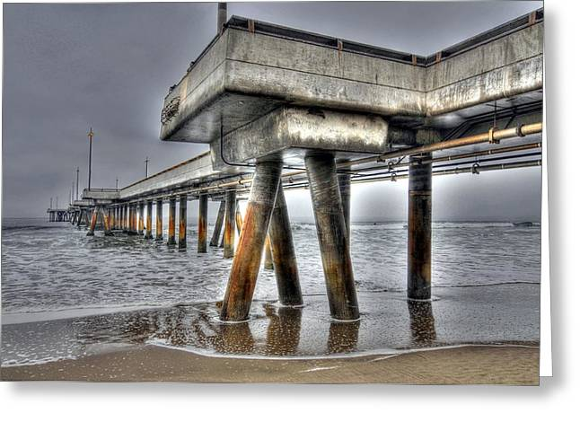 Venice Pier Industrial 2 Greeting Card