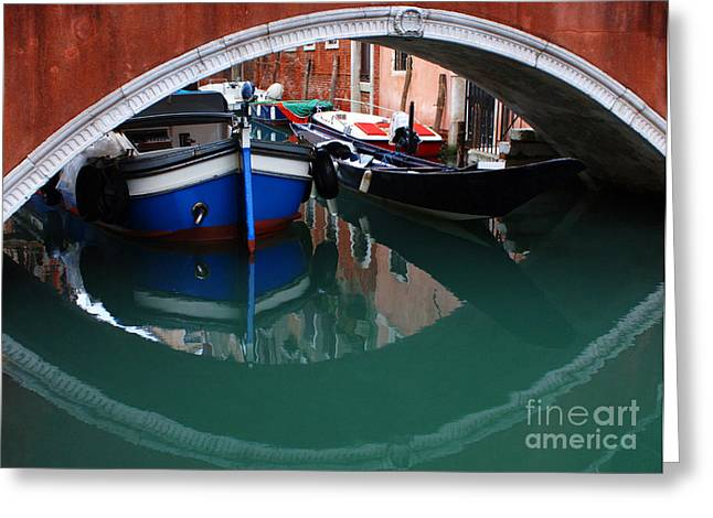 Venice Reflections 2 Greeting Card by Bob Christopher