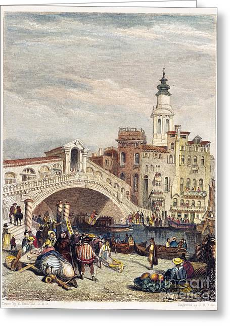 Venice: Rialto, 1833 Greeting Card