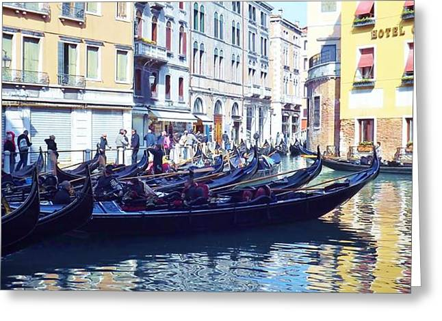 Venice Waiting  Greeting Card by Tony Ruggiero
