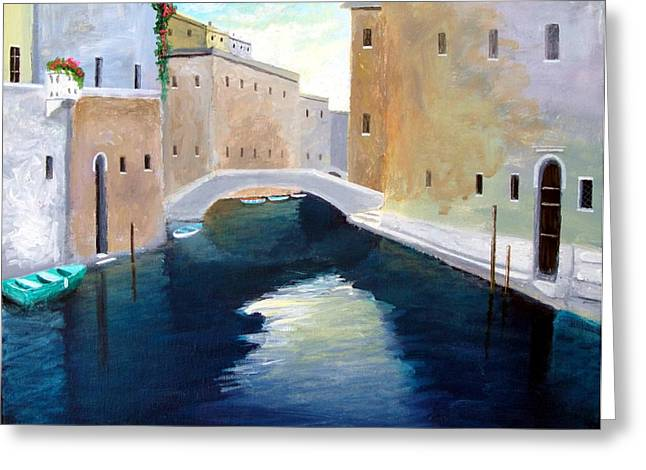 Venice Water Dance  Greeting Card by Larry Cirigliano