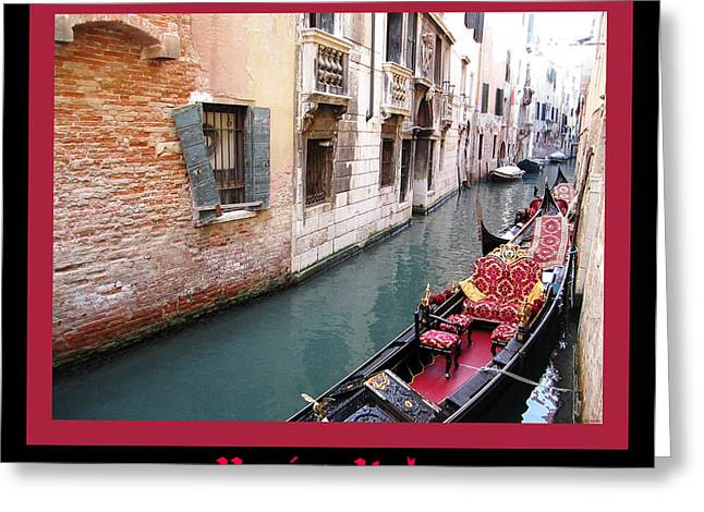 Venitian Gondola   Venice Canal Italy Greeting Card