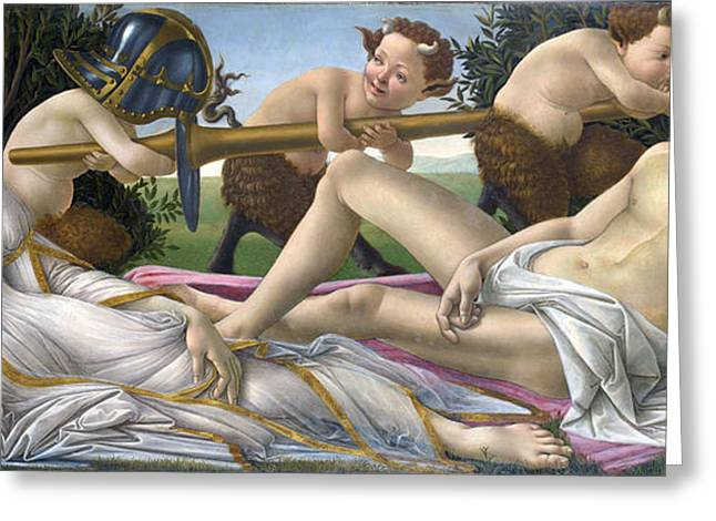 Venus And Mars Greeting Card by Pg Reproductions