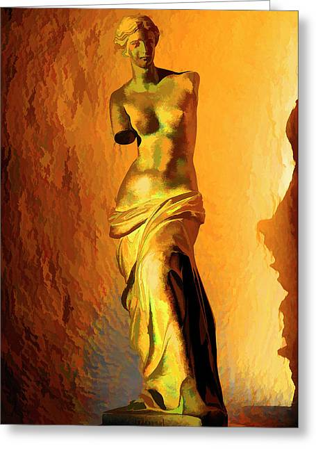 Venus De Milo Greeting Card by Manolis Tsantakis