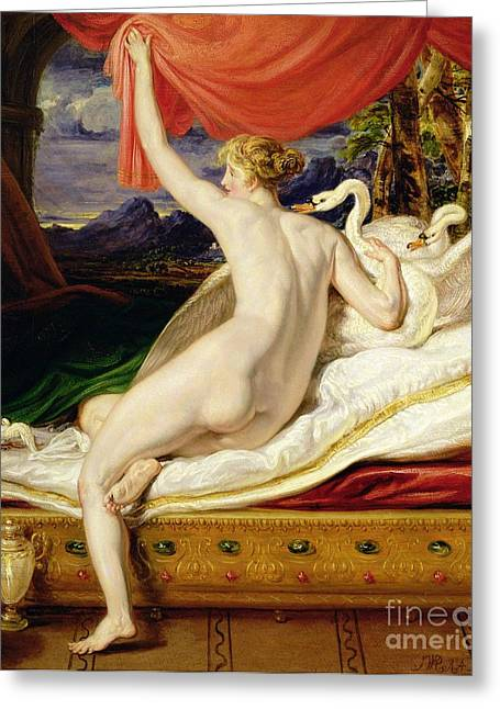 Venus Rising From Her Couch Greeting Card by James Ward