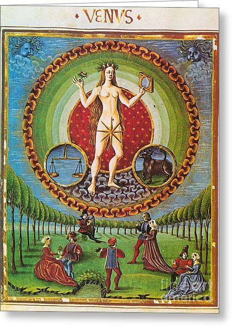 Venus Ruler Of Taurus And Libra Greeting Card by Photo Researchers