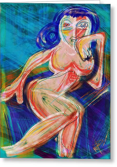Venus Greeting Card by Russell Pierce